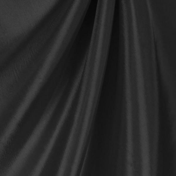 ТАФФЕТА 170Т пл. 45г/м2, ЧЁРНАЯ, подкладочная ткань